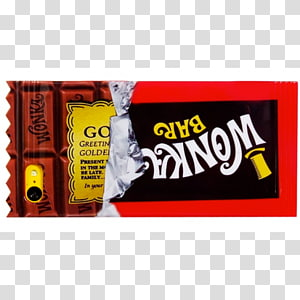Willy Wonka Charlie and the Chocolate Factory Wonka Bar Chocolate bar YouTube, chocolate bar PNG