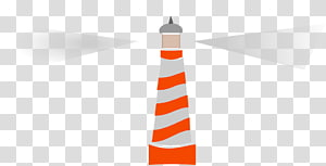 orange and gray striped lighthouse illustration, Lighthouse 2 Rays Of Light PNG