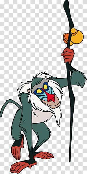 monkey character illustration, Rafiki Simba Zazu Pumbaa Mufasa, lion king PNG