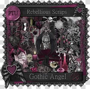 .com Scrap, S gothic PNG