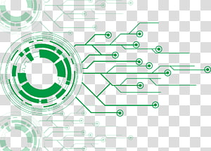 Printed circuit board Electronic circuit Computer file, Robot circuit board, green diagram PNG clipart
