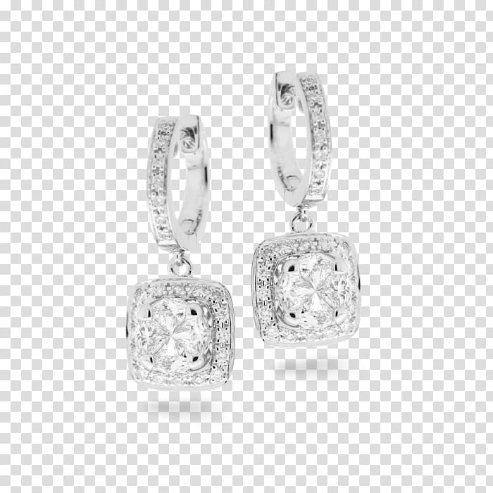 Earring Silver Charms & Pendants Bling-bling Jewellery, silver PNG