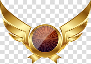 round medal with wings , Euclidean Wing Scalar, Golden Wings Cool Games PNG