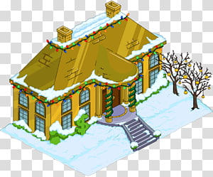 The Simpsons: Tapped Out Krusty the Clown Bart Simpson Homer Simpson Marge Simpson, snow house PNG clipart