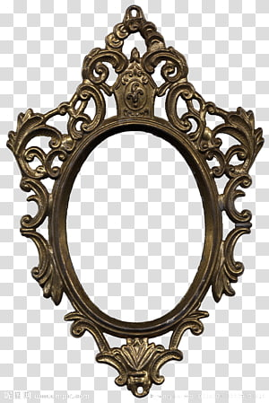 gray wooden frame, frame Mirror Ornament Decorative arts, Retro pattern frame windows PNG clipart