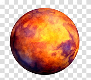 round red and yellow moon planet, The Transit of Venus Planet Mars Mercury, planets PNG clipart
