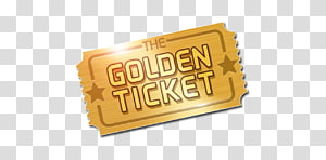 Golden Ticket Art YouTube Willy Wonka, youtube PNG clipart