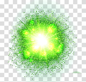 green light effect round PNG