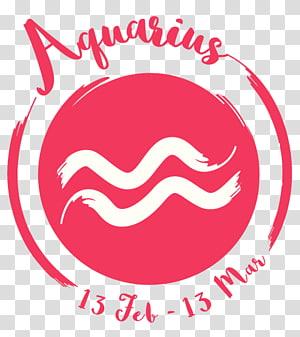 Pink M Brand Line Logo , Zodiac aquarius PNG clipart
