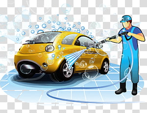 man washing vehicle , Car wash Toyota ist, Car washer PNG clipart