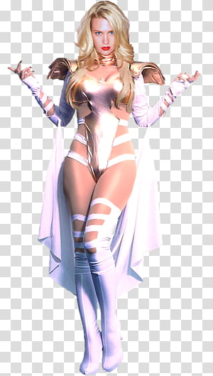 Costume Latex clothing Pin-up girl Character, Emma Frost PNG