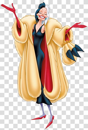 Cruella de Vil The Hundred and One Dalmatians Dalmatian dog The Walt Disney Company Villain, others PNG