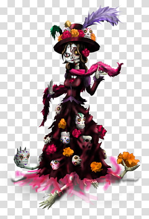 La Calavera Catrina Drawing Day of the Dead Painting, ballet PNG