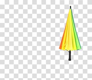 Triangle Yellow Pattern, umbrella PNG