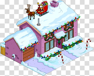The Simpsons: Tapped Out The Simpsons house Christmas Ned Flanders, the simpsons movie PNG
