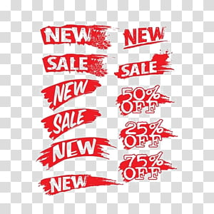 red Sale arts, Discounts and allowances Label, Discount tag PNG clipart