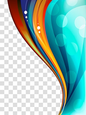 color floating curve PNG