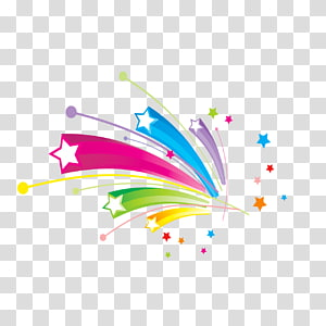 star rainbow illustration, Musical note Abstract art, Color Stereo Star PNG clipart