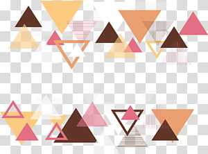 multicolored abstract , Triangle Geometry Abstraction, Abstract geometric triangle PNG