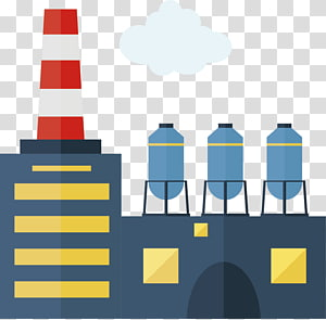 black and yellow factory , Factory Icon, creative icon design factory chimney PNG clipart