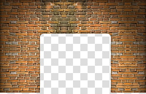 brown concrete brick wall illustration, Floor Wall Brown Pattern, Brick wall PNG clipart