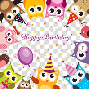 birthday background illustration PNG