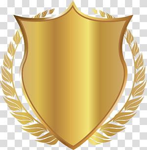 golden ear shield PNG