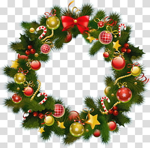Christmas decoration Advent wreath Crown New Year, christmas PNG