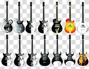 various guitar PNG