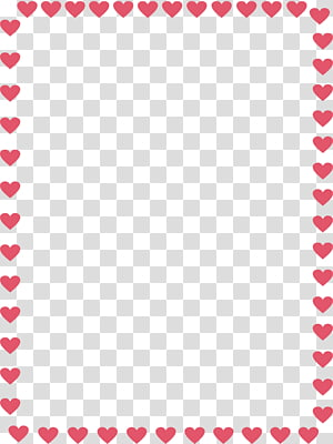 heart border PNG