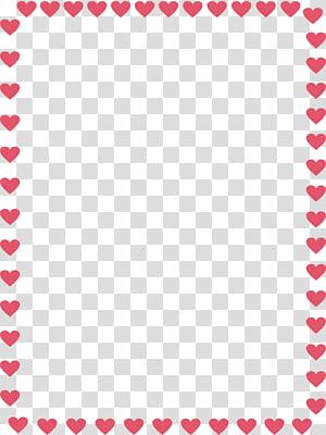 heart border PNG clipart