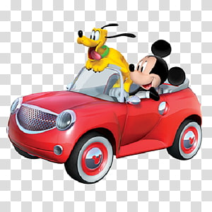 Mickey Mouse and Pluto in car , Mickey Mouse Pluto Minnie Mouse Daisy Duck Donald Duck, disney pluto PNG