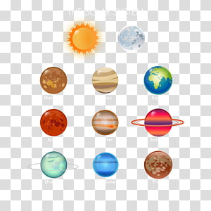 The Solar System with sun and moon illustration, Earth Solar System Planet Venus, Nine planets PNG clipart