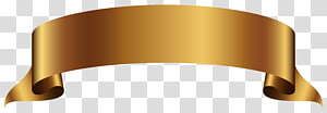 Banner , Golden Banner , brown ribbon decor PNG clipart
