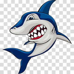 Great white shark Cartoon , Cartoon shark PNG clipart