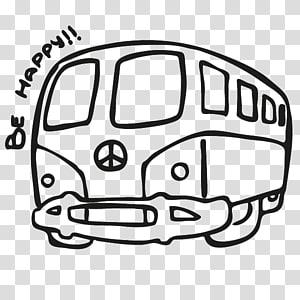 Van Car Drawing Hippie Volkswagen Transporter, hippie PNG