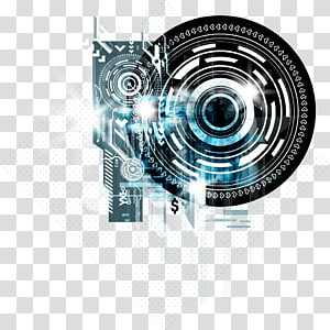 technology background material PNG