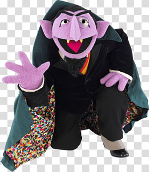 The Count from Sesame Street, Sesame Street Count Von Count Kneeling PNG