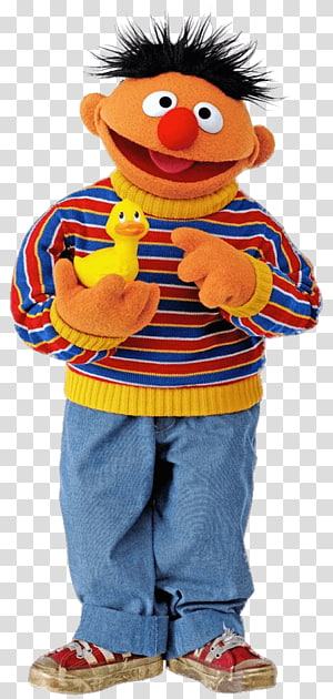 Ernie from Sesame Street, Sesame Street Ernie With Duck PNG