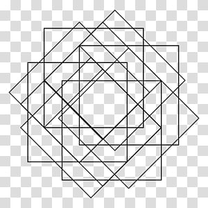 Square Sacred geometry Pattern, geometric PNG clipart