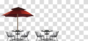 Table Coffee, parasol PNG
