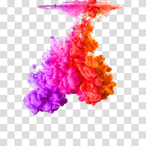 pink, purple, red, and orange paint splatters, Acrylic paint Color Ink Rainbow, Water Shen Mo PNG clipart