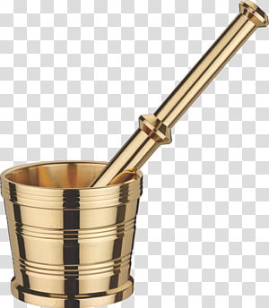 Mortar and pestle Brass Stainless steel India, Brass PNG clipart