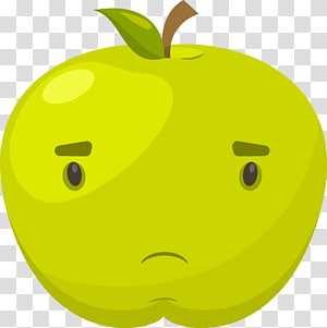 Apple Facial expression , green apple facial expression PNG clipart