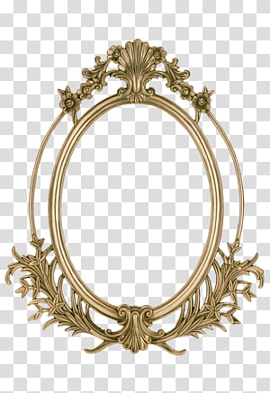 brass-colored filigree frame , frame , Golden frame PNG clipart
