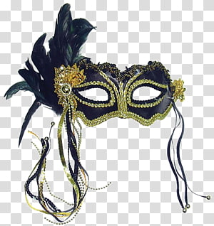 Masquerade ball Black Mask Blindfold Costume party, mask PNG