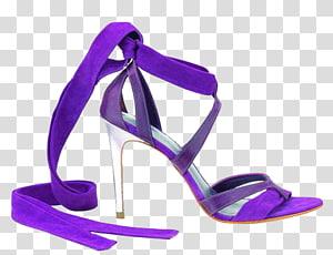 High-heeled footwear Shoe Fashion Purple Stiletto heel, Elegant purple high heels PNG