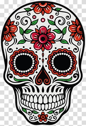 Calavera , Calavera Day of the Dead Skull Death Mexican cuisine, skull PNG