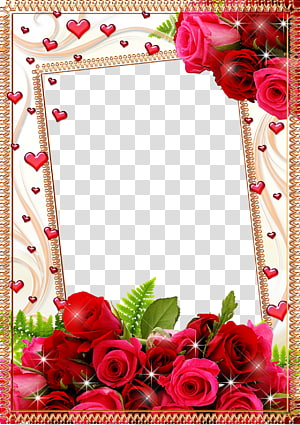 frame Flower Rose, Mood Frame s, pink and red roses digital frame PNG clipart
