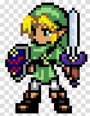 The Legend of Zelda pixel , The Legend of Zelda: Breath of the Wild Link Pixel art, pixel PNG